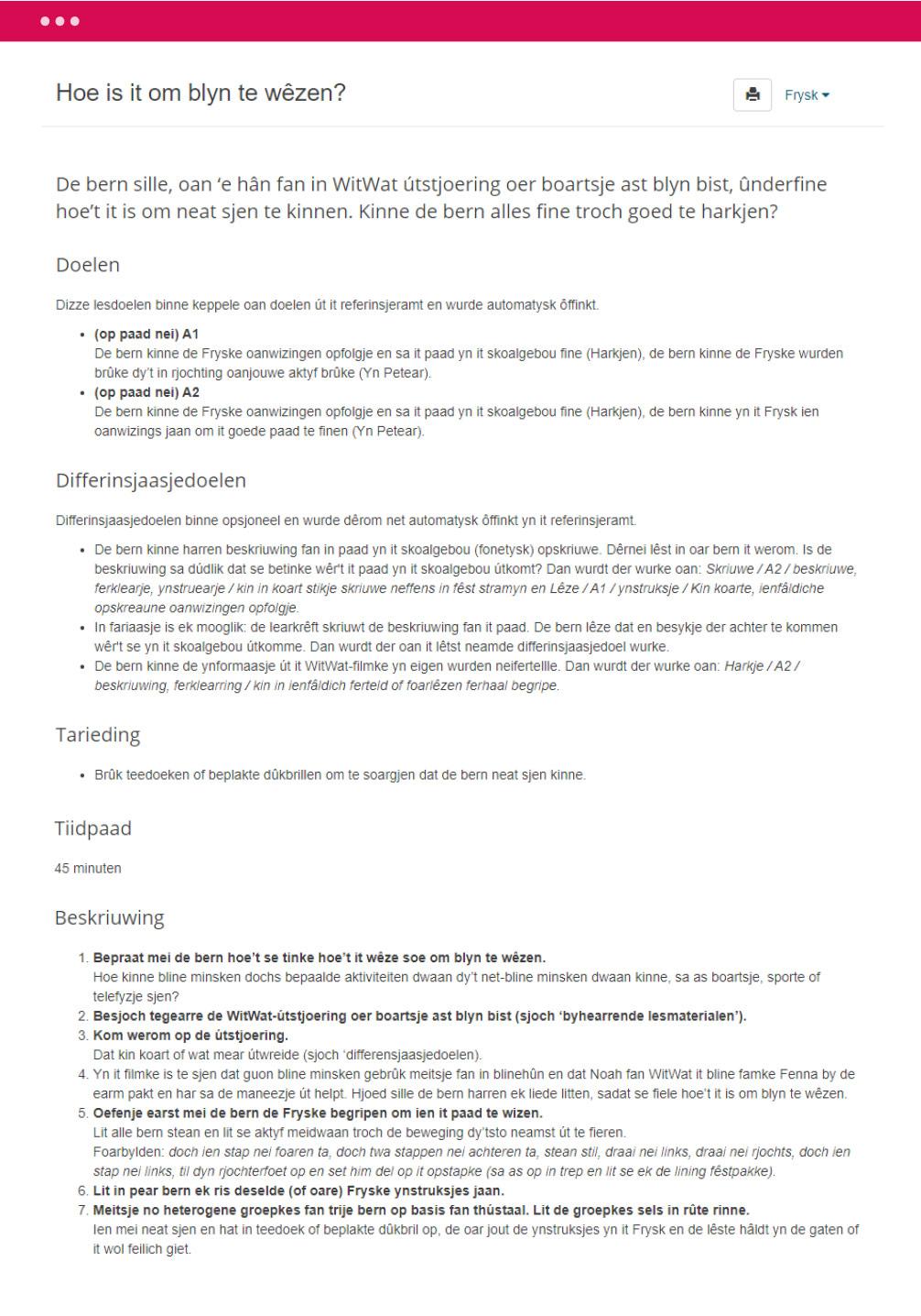 Spoar 8 - Handleiding van een taalaktiviteit